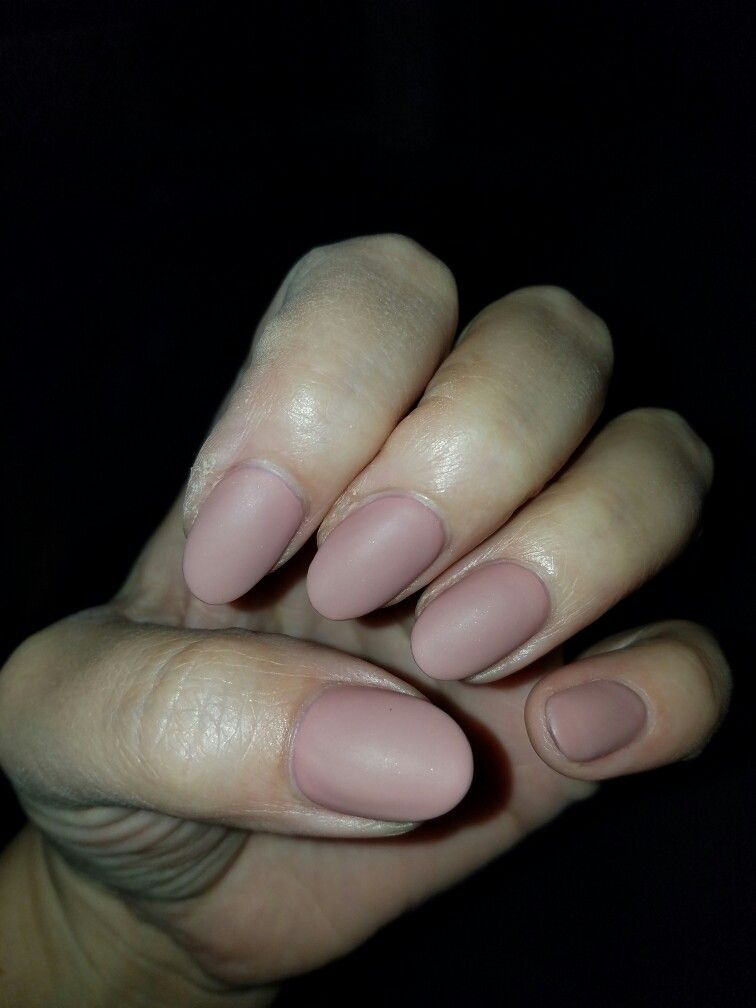 Matte, mauve, short, almond shaped nails. | nails | Pinterest ...