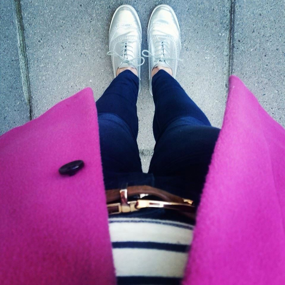 Silver brogues. Gotta love em with a dash of pink