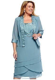 belk.com $34.98 Dana Kay Plus Size Two Piece Buckle Dress with ...