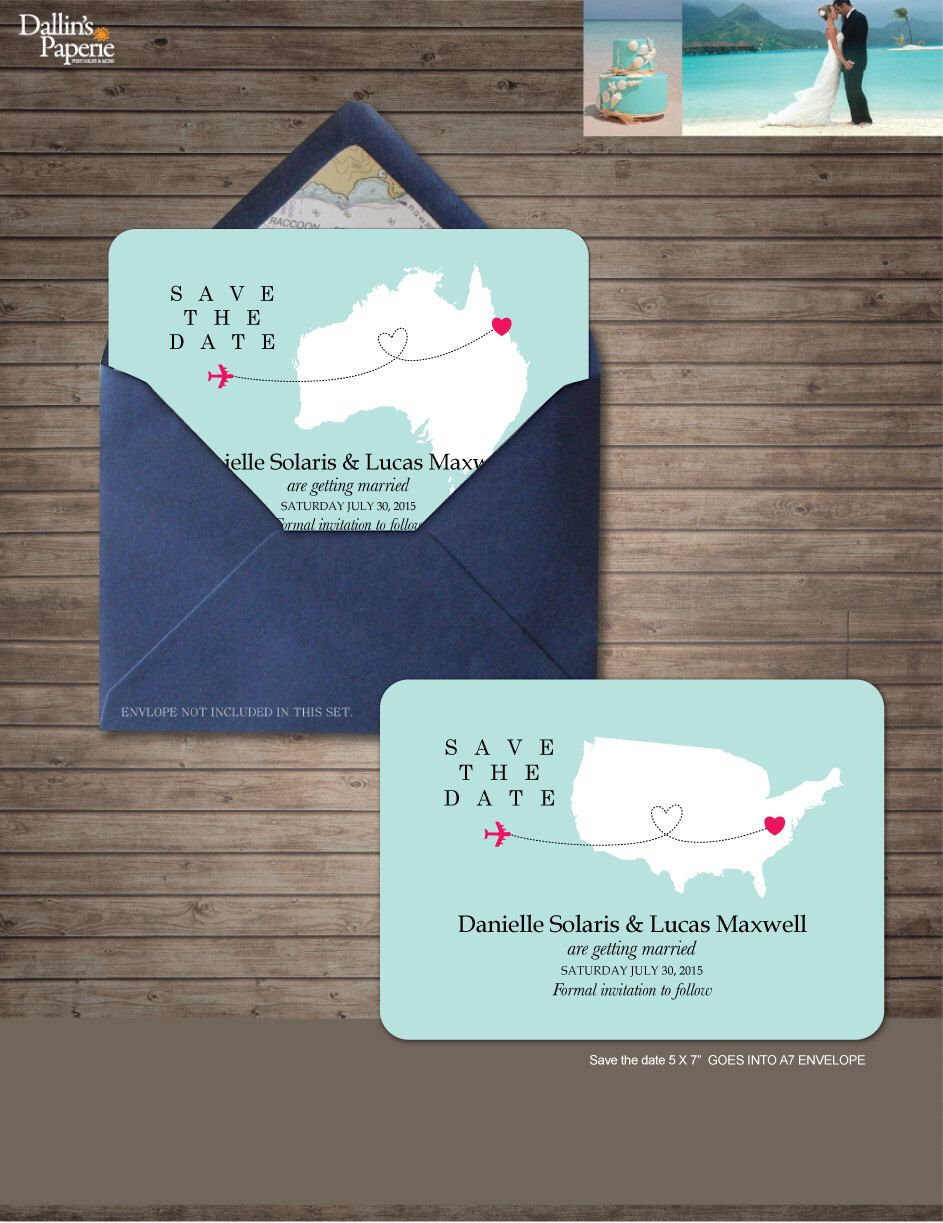Destination Wedding Invitation printables Save the date