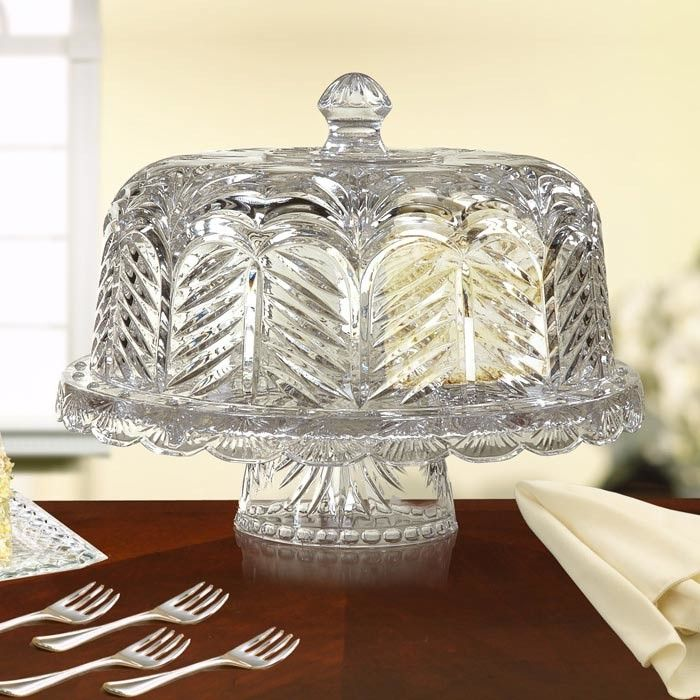 Portico Crystal Cake Stand with Dome