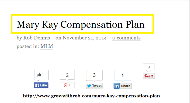 Mary Kay Compensation Plan Mary Kay Compensation Plan Mary Kay