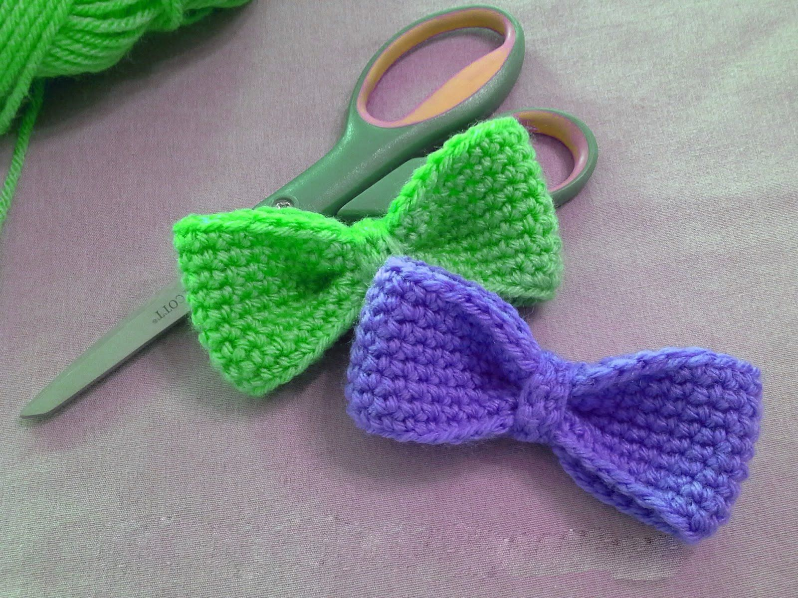 How to crochet bow step by ste | Crochet | Pinterest | El cabello ...