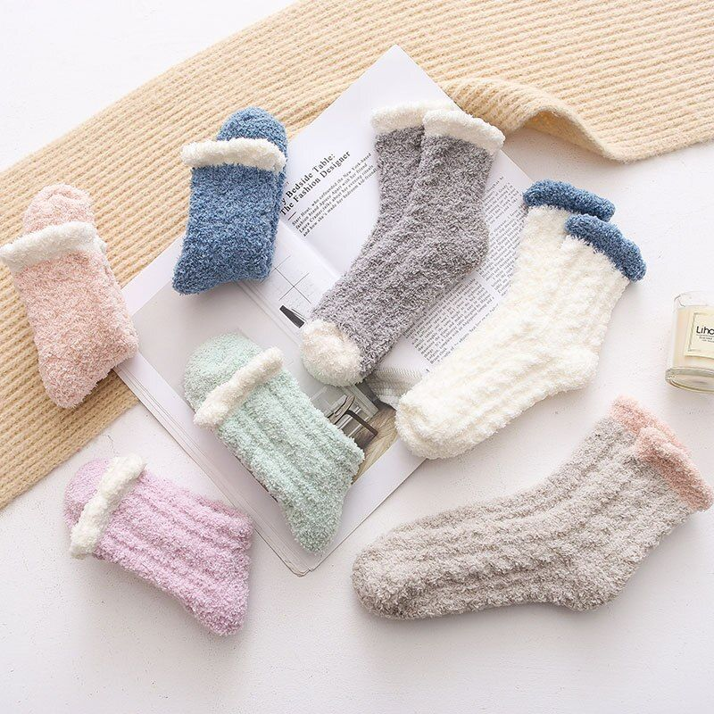 New Coral fleece Thick socks Autumn Winter Women's Socks
