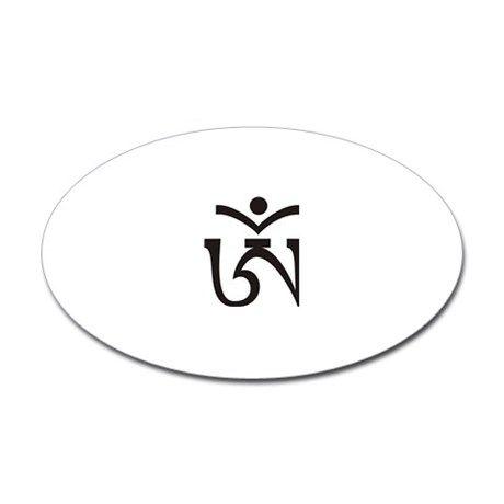 Tibetan Om Symbol Sticker Oval Print On Demand My Bestselling