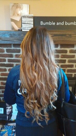 """Balayage/ombre with 24"""" extensions"""