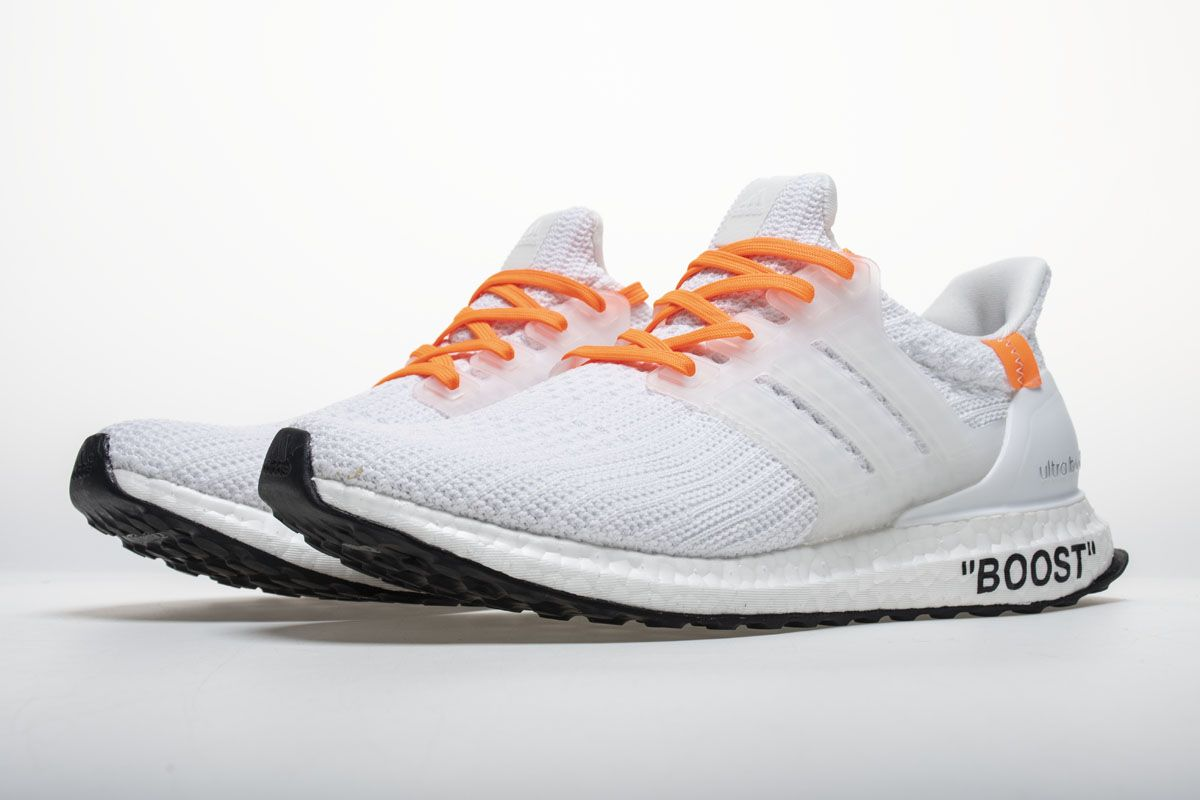 178473f9c79ea OFF WHITE X adidas Ultra Boost 4.0 All White Real Boost4