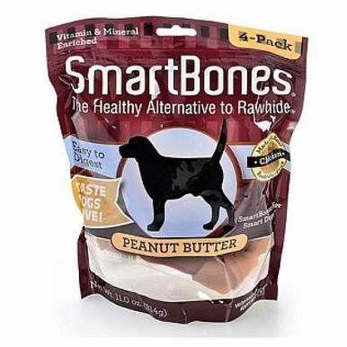 Petmatrix Smartbones Peanut Butter Dogs Treats & Chewable Rawhide Large 3Pk