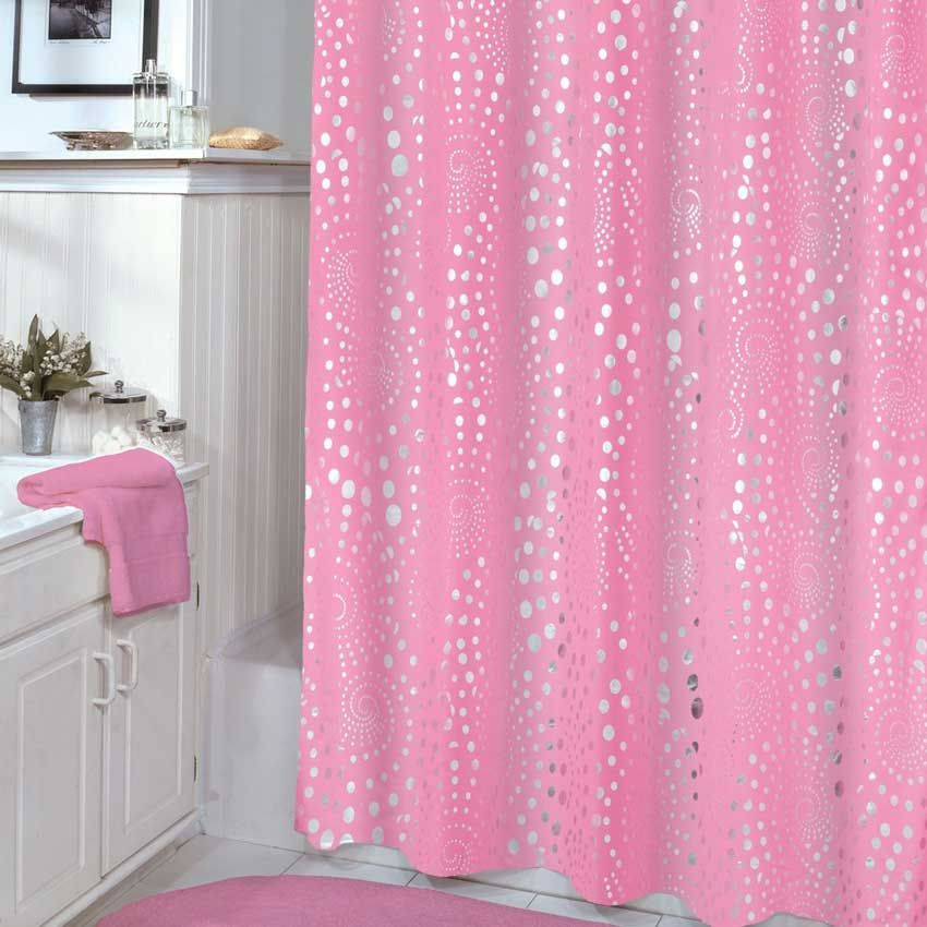 75-inch-veratex-pink-shower-curtain | Decorating ideas | Pinterest ...