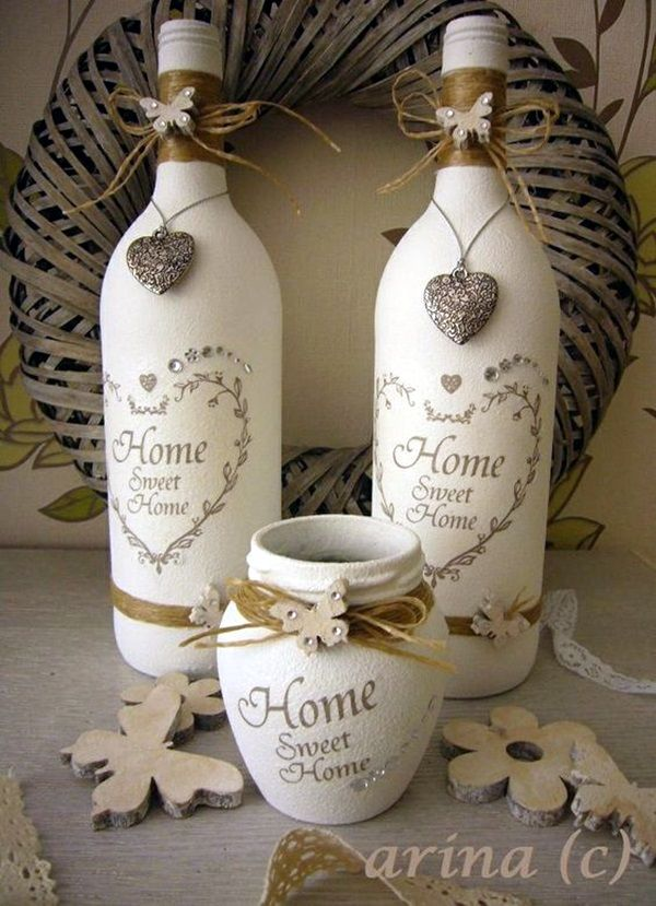 Empty Wine Bottle Decoration Ideas Interesting 60 Cool Wine Bottles Craft Ideas  Wine Bottle Crafts Bottle And Wine Decorating Design