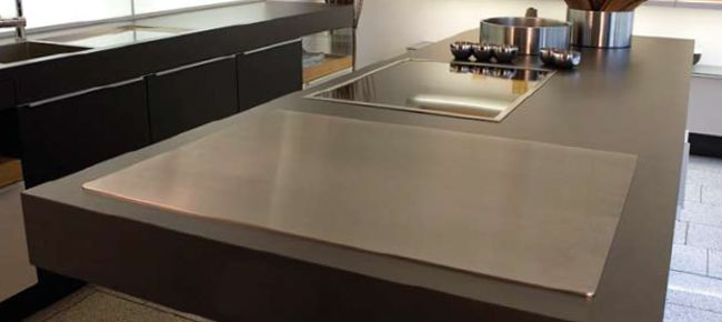 The Round Built In Cook N Dine Teppanyaki Adds Such A Different Look To The  Kitchen. We Just Love How It Plays With This Gorgeous Countertop In Ouru2026