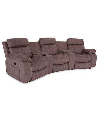 Justin Ii Fabric Reclining Sectional Sofa House Of Fraser Sofas Reviews 5 Piece Power Recliner 3 Motion Recliners 2 Consoles 124 W X 53 D 39 H