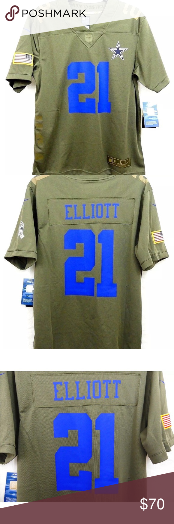 the latest 8c04a 7e620 Nike Youth Dallas Cowboys Ezekiel Elliott Jersey Thank you ...