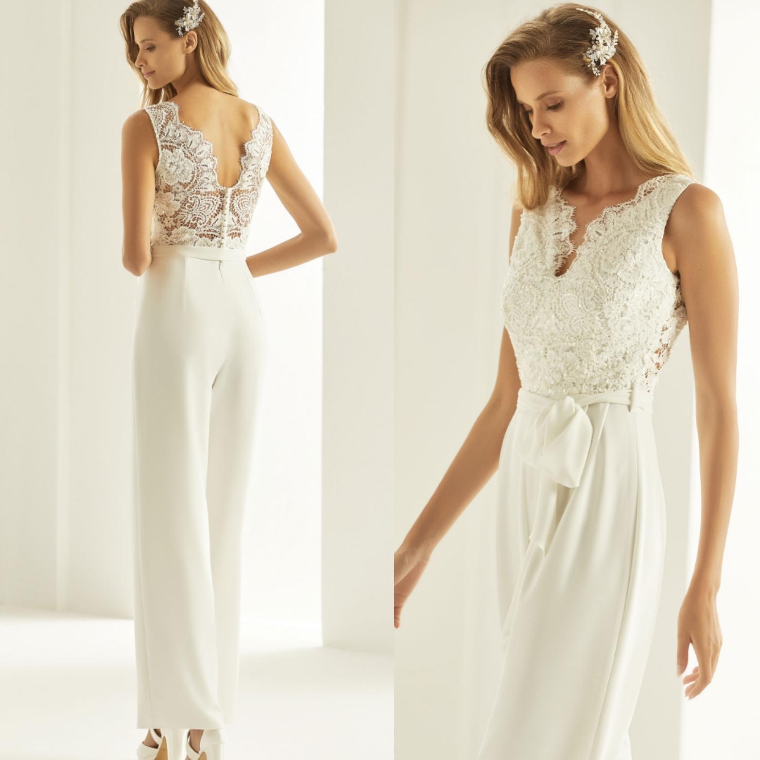 Heiraten Im Jumpsuit Festliche Overalls Fur Braute In 2020 Braut Kleider Hochzeit Hochzeit Jumpsuit