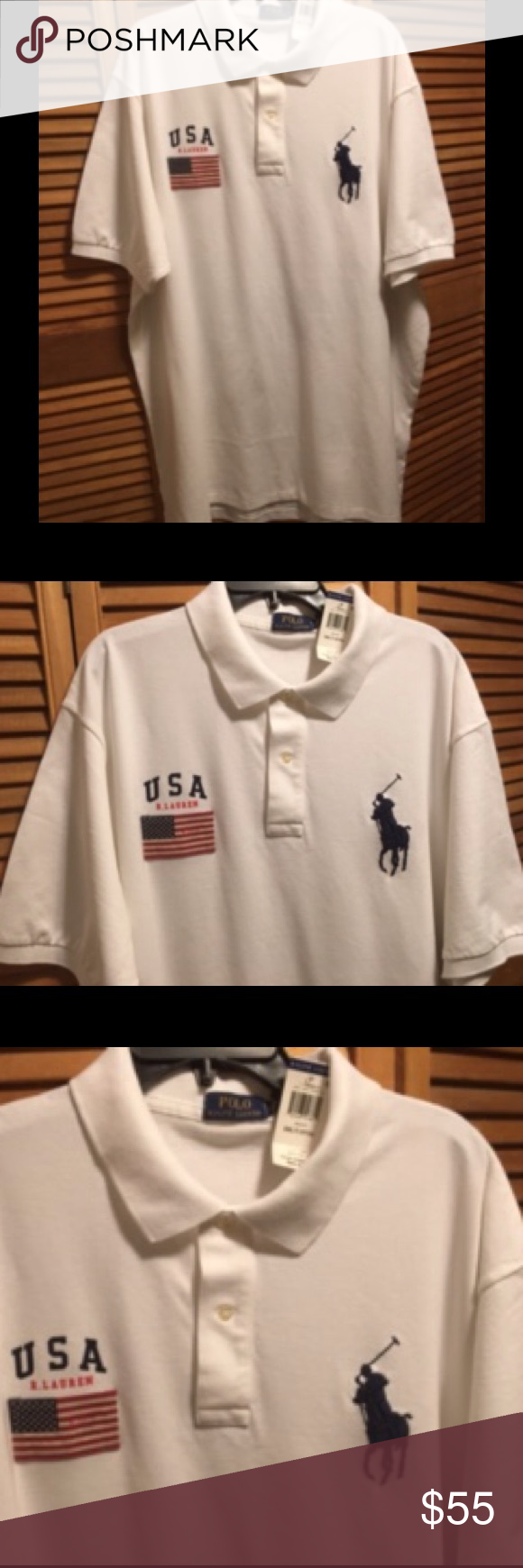 Spiffy Custom Gifts Mens U.S Navy Logo Embroidered Polo Shirt