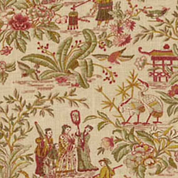 Waverly Lantern Festival Antique Asian Toile Home Decorating Fabric ...