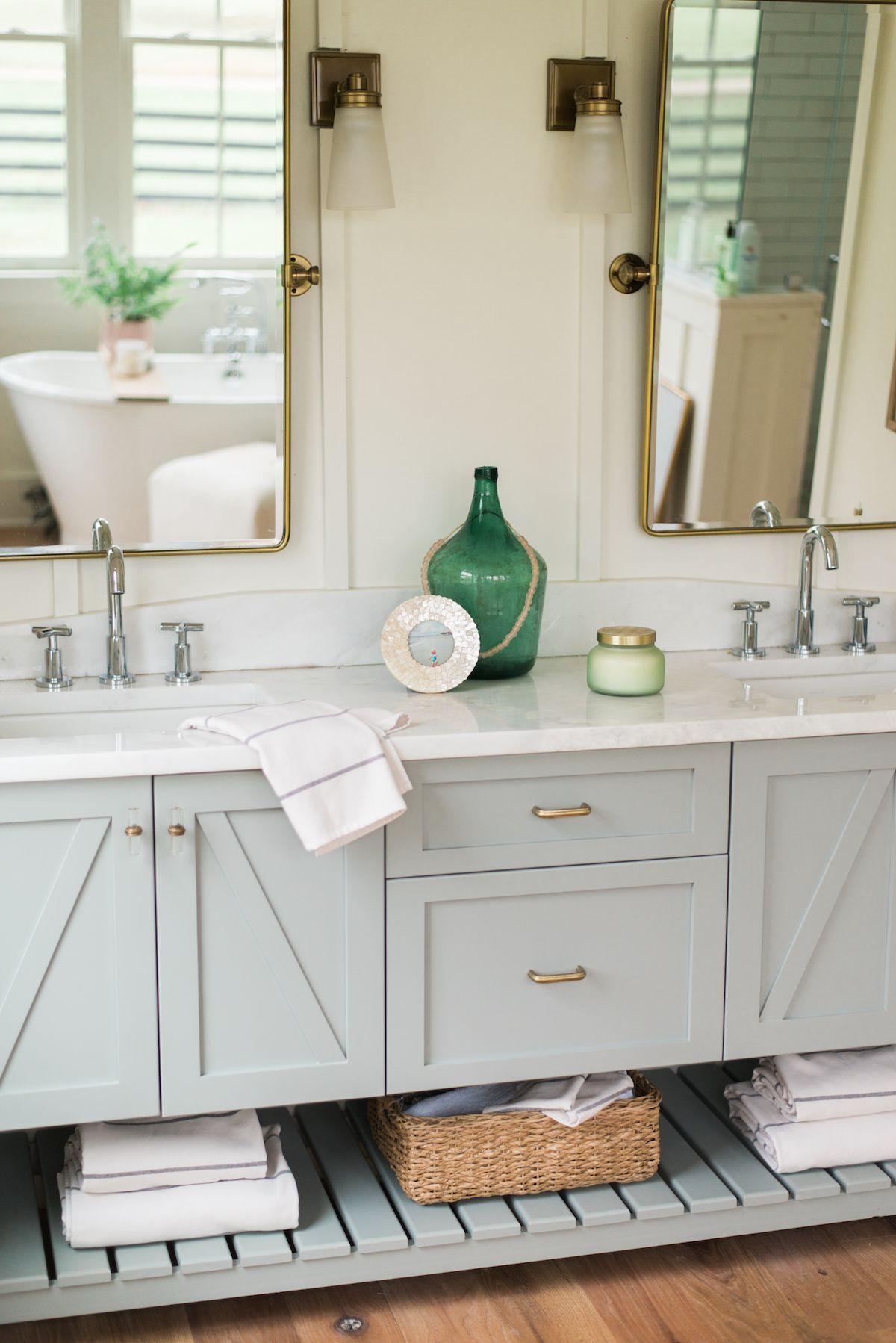 Fouta Stripe Towels Parachute Bathroom Vanity Modern Farmhouse Bathroom Farmhouse Bathroom Decor