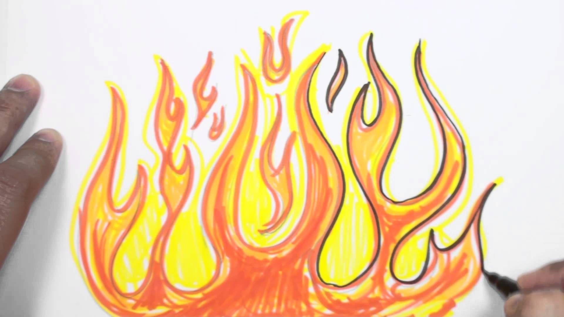 Graffiti Fire Drawing Lesson