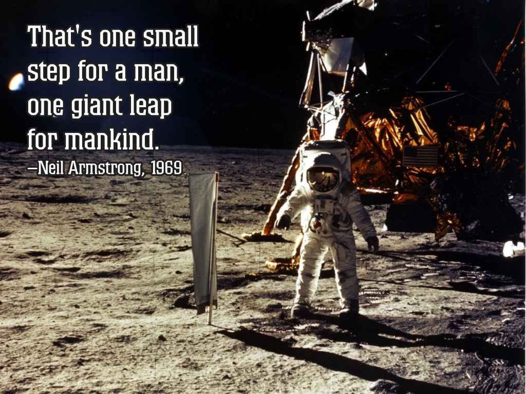 Best 19 One Small Step For Man Quote Quotations And