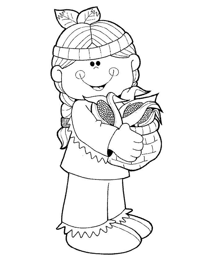 Desenhos Indios Colorir Free Thanksgiving Coloring Pages