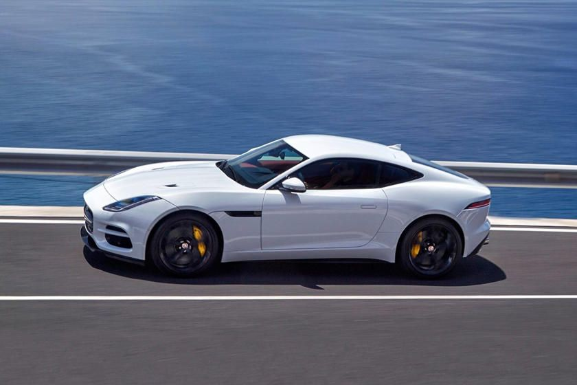 2018 Jaguar F Type R Coupe Side View Driving Jaguar F Type