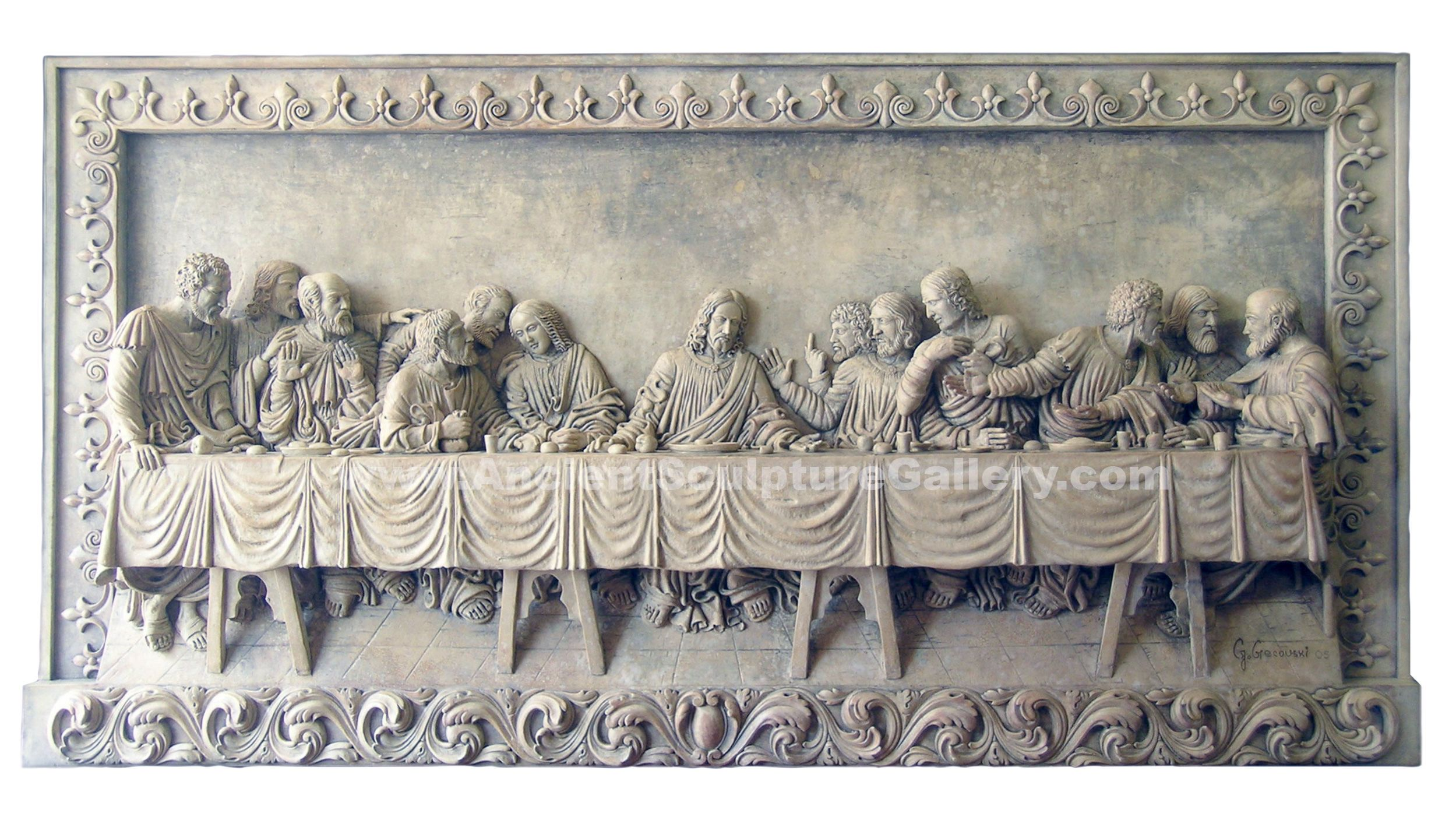 The Last Supper Huge Sculpture Relief Plaque By Leonardo Da Etsy Last Supper Hand Sculpture Sculpture