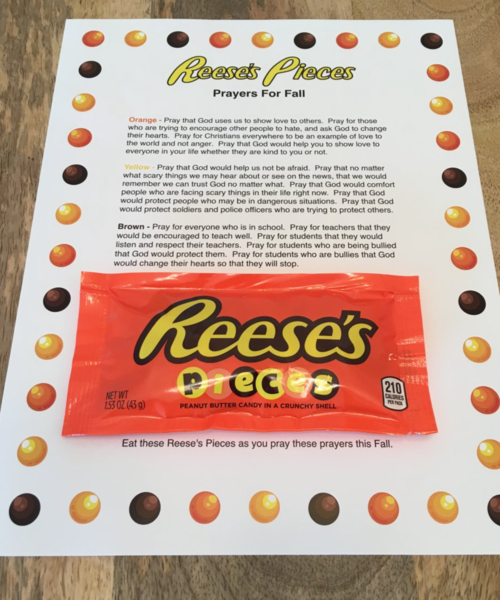 Print This Reese S Pieces Prayer For Fall For Everyone In Your Church This Is A Quic Childrens Ministry Curriculum Childrens Church Lessons Childrens Ministry