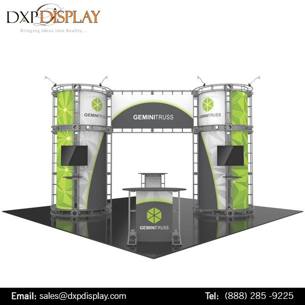 dxp display offer the truss displays that are simple to set up and use it s strong secure eco friendly an roof truss design roof trusses trade show display