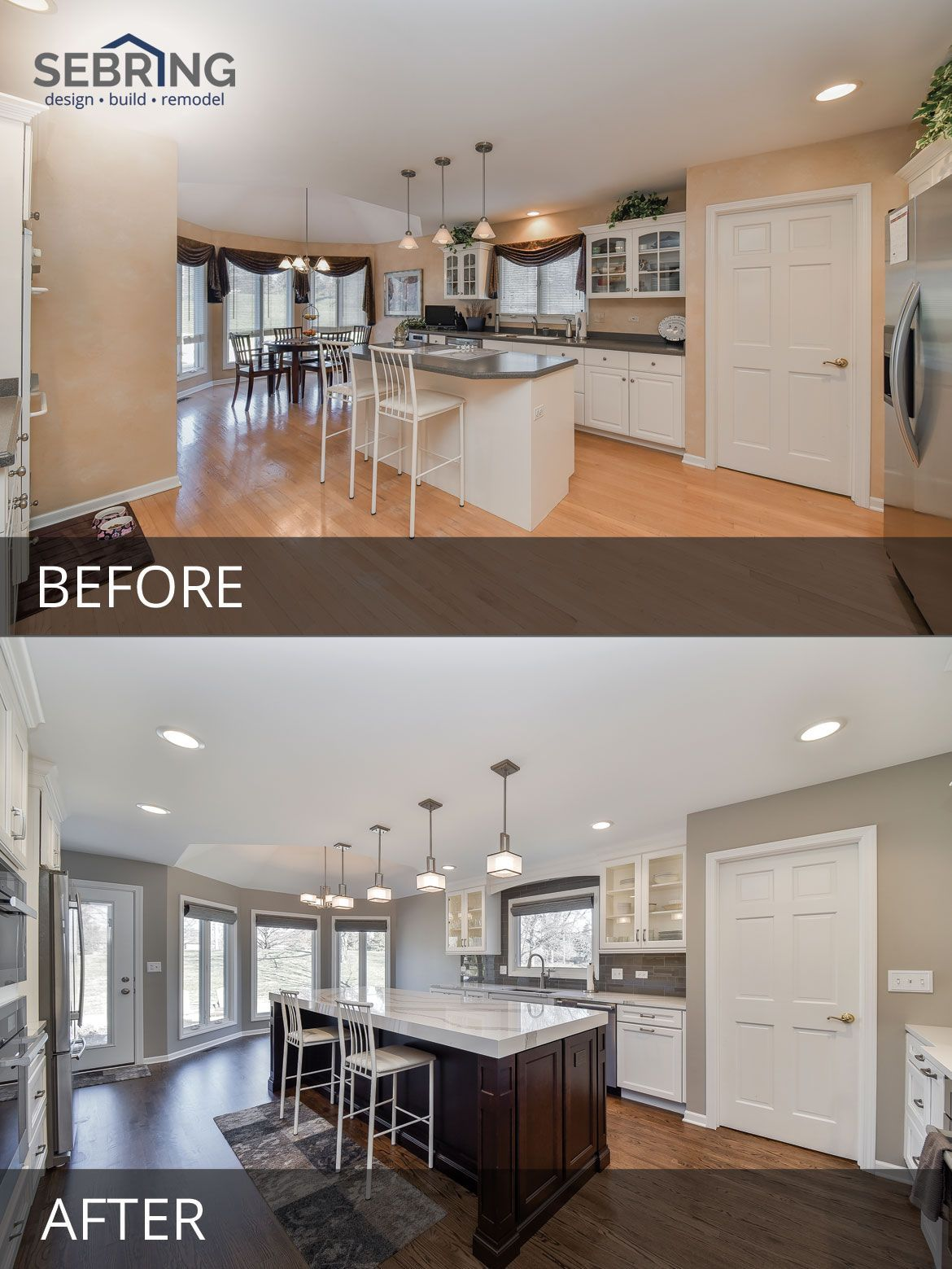 Dave u cathyus kitchen before u after pictures in easy