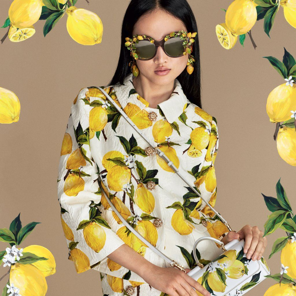 73b1740aac Dolce   Gabbana took the quintessential Italian summer fruit and made a  zesty fashion statement.out of it!  DolceGabbana  lemon  yellow  prints ...