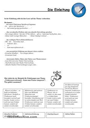 Wie Schreibe Ich Eine Einleitung Aufsatze Schreiben B1 B2 Education School Journal