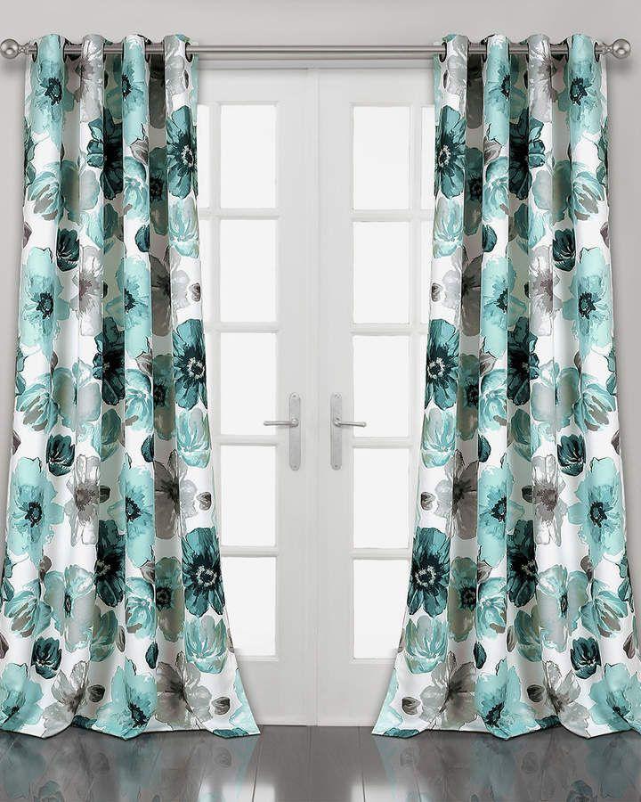 Triangle Home Fashion Leah Room Darkening Window Curtain Room