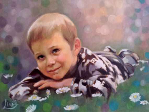 Custom Portrait Painting Oil Painting Portrait by ArtonlineGallery