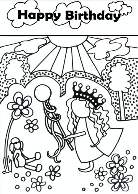 Happy Birthday Girl&rsquo | Fathers day coloring page ...