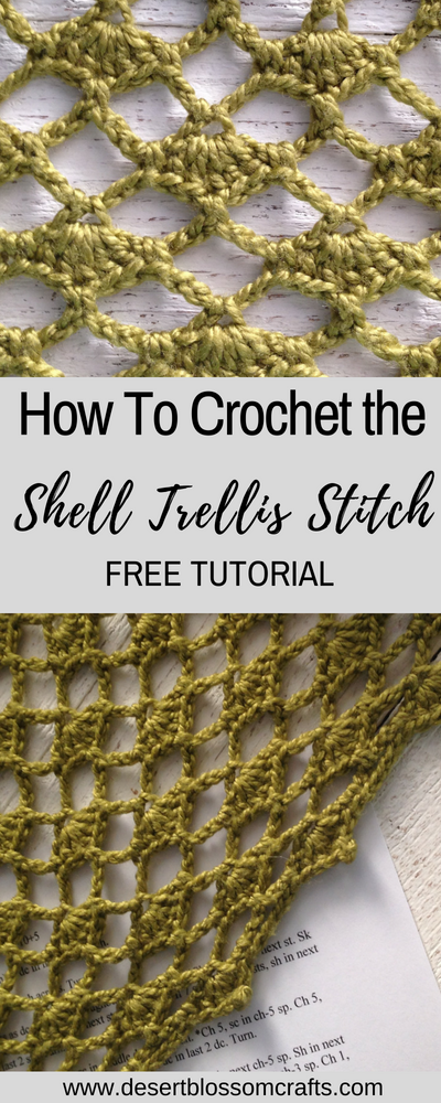 How to Crochet the Shell Trellis Stitch #crochetstitches