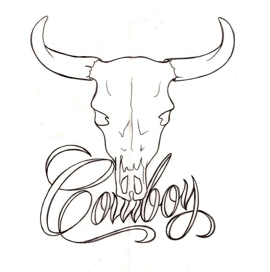 Cowboy Skulls Cowboy Bull Skull Tattoos Cowboy Tattoos Cow