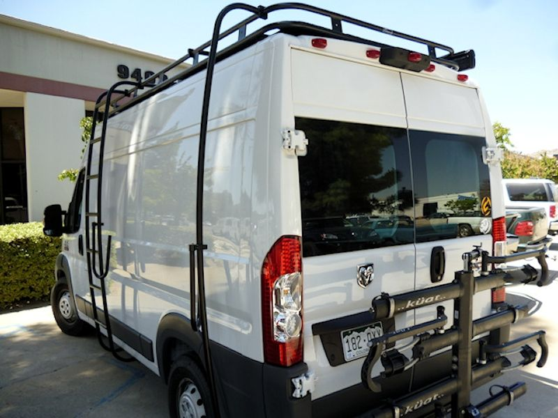 Dodge Promaster Aluminess Roof Rack with Surf Pole and