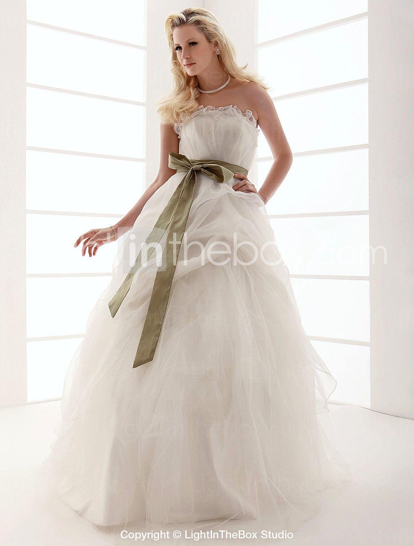 [249.99] Ball Gown Strapless Floorlength Tulle Wedding