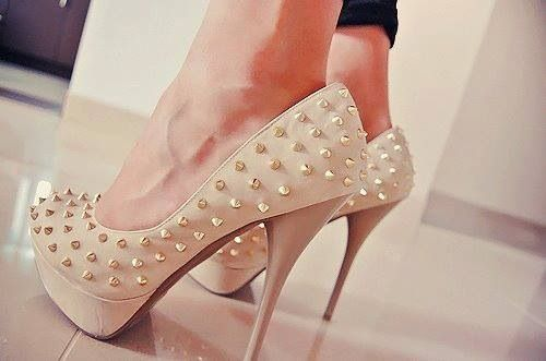 Nude Heels With Spikes :)