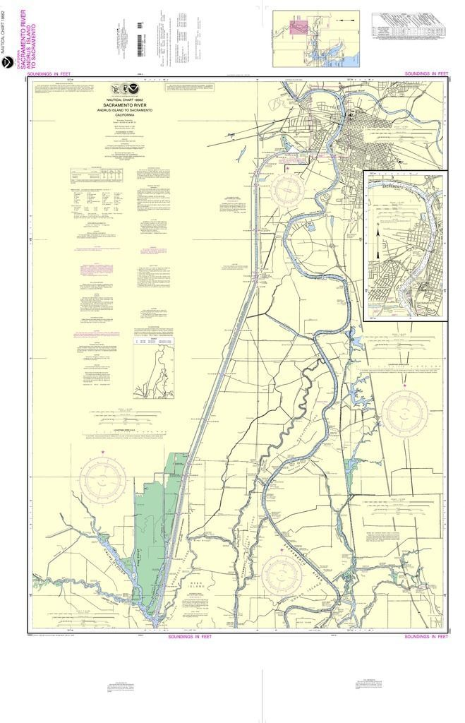 Noaa Nautical Chart 18662 Sacramento River Andrus Island To Sacramento Sacramento River Nautical Chart Island