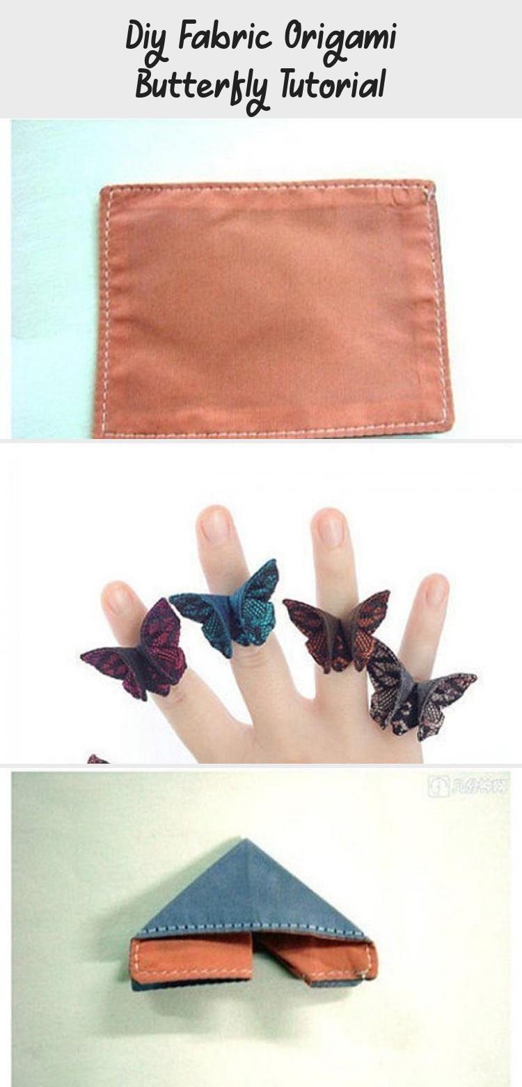 Photo of DIY Stoff Origami Schmetterling Tutorial #origamiKoi #origamiBoat #origamiArquitect …