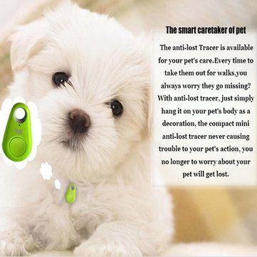 Pet Dog Anti-lost Tracker Smart Buletooth Tracer GPS Locator Tag Alarm Tracer Finder