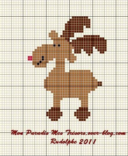 Rudolphe dans les starting block! (grille gratuite) | Knitting ...