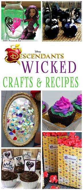25 Wicked Disney Descendants Crafts And Recipes Party