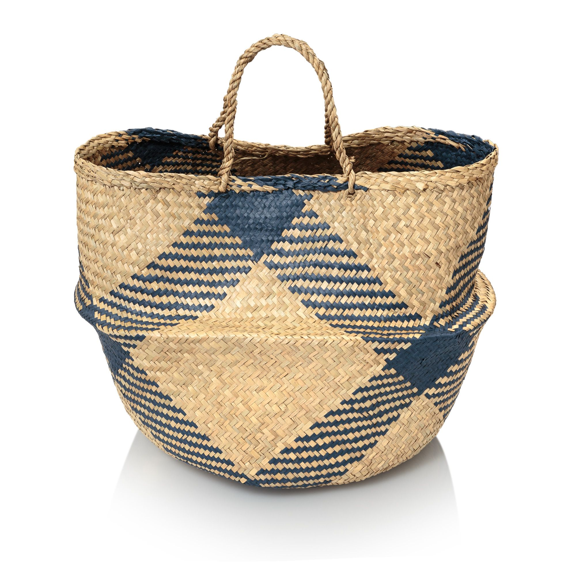 High Quality Navy Sea Grass Storage Basket