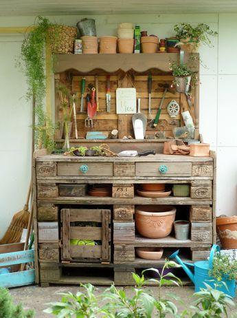 pflanztisch aus paletten, pflanztisch aus paletten, diy | gärten | pinterest | garden, plants, Design ideen