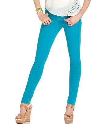 GUESS? Jeans, Brittney Skinny, Azure Wash - Juniors - Macy's