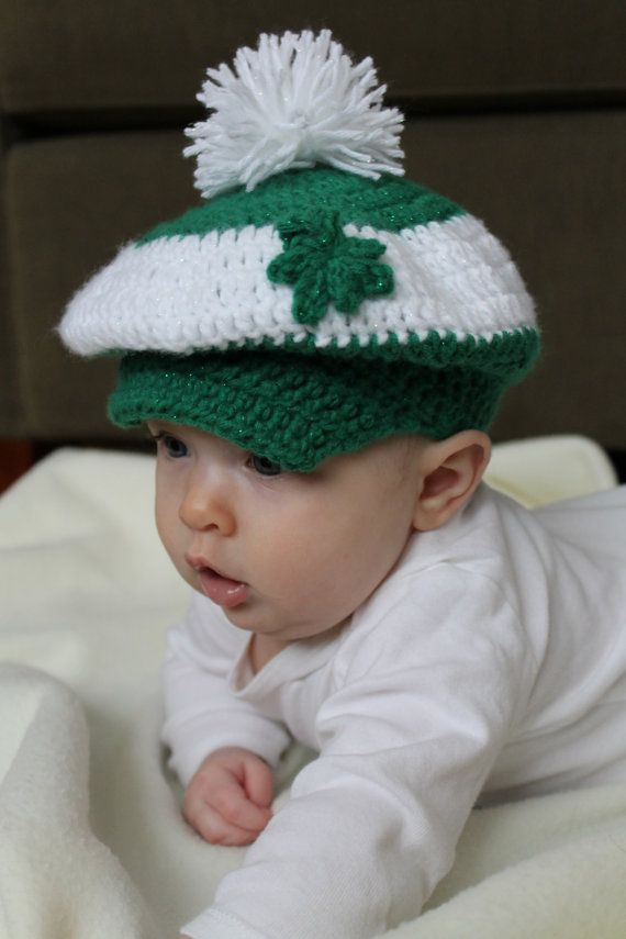 St Patrick S Day Golf Hat For Baby Childrens Crochet