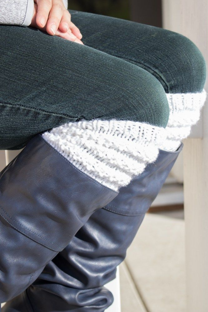 Textured Knitted Boot Cuffs Free Knitting Pattern Boot Toppers