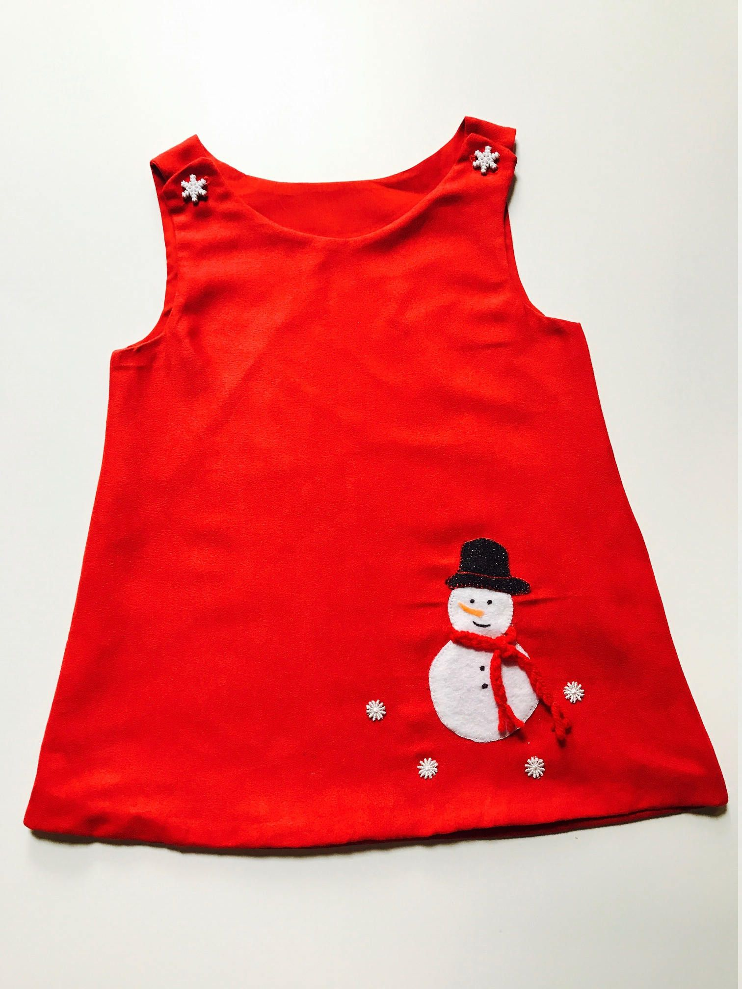 Infant Toddler girls Red Christmas dress Jumper Size NB 5T by